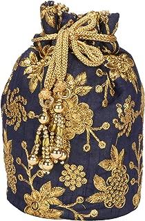 Fantastic Silk Indian Ethnic Potli Bag with Handicraft work