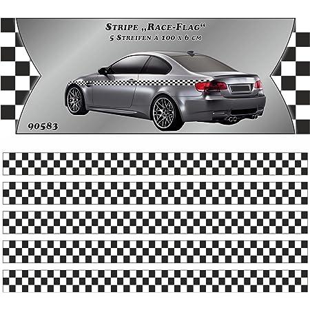 Sticker Race Flag Stripe 5 M X 60 Mm Auto