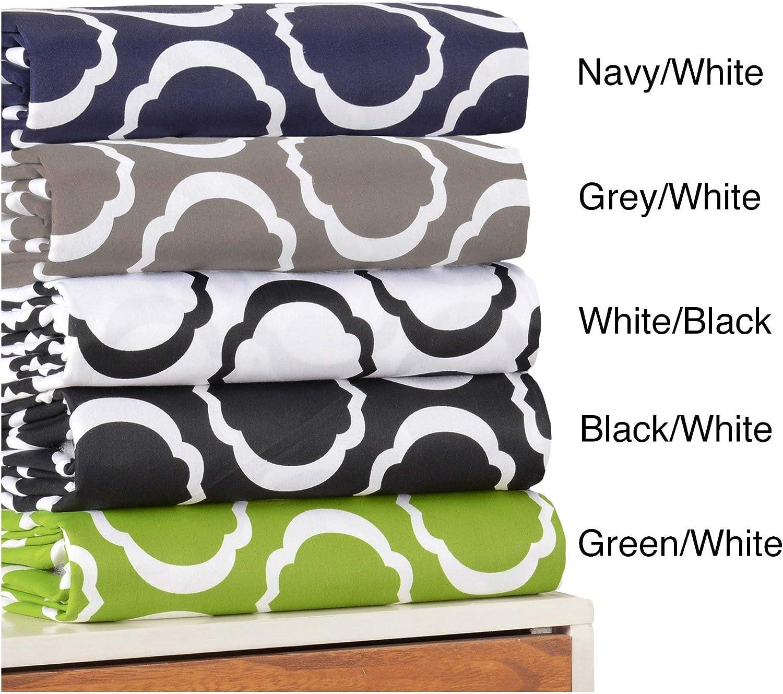 Cotton Blend 600 Thread Count, Soft, Wrinkle Resistant 3-Piece Full Queen Duvet Cover Set, Scroll Park Black