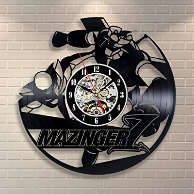 Mazinger Wall Art Vinyl Record Clock Home Decor Room Design