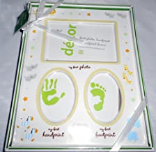 Nursery Photo Frame Holds My First Photo, My First Handprint, My First Footprint