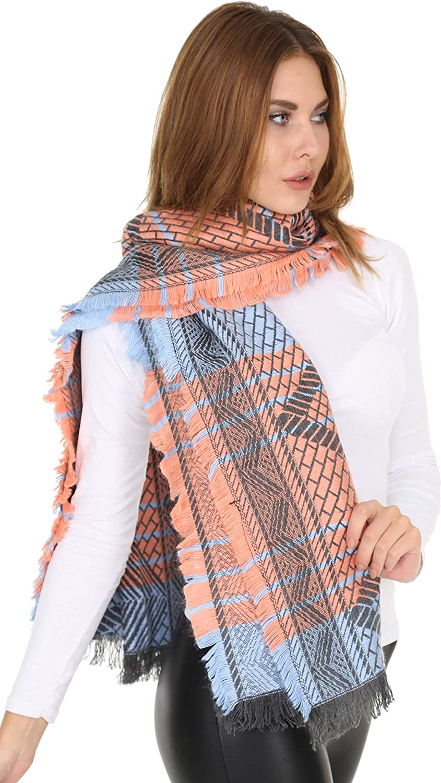 Womens Scarf Cashmere Feel Warm Soft Chunky Large Blanket Wrap Shawl Stylish Fall Winter