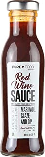 Pure Food By Estée Sauce, Red Wine Sauce with Slow Cooked Onions | For Marinade, Dipping, Glazing, and Dressing of Fish, Poultry, and Red Meat | No Preservatives, Certified Kosher | 9.9 Fl Oz (280 ml)