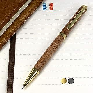 Penna in legno di Sipo, prodotta artigianalmente in Francia. Possibilità di incisione personalizzata. Confezione regalo in...
