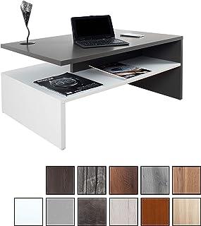 RICOO WM080 W-A, Mesa Centro salón, 90x41,5x59,5cm, Mueble Auxiliar para Salon, Rectangular, Diseño Moderno, Decorativo, Madera Color Gris Antracita