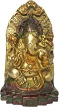 Purpledip Brass Idol Ganesha (Ganapathi or Vinayaka): Antique Design Collectible Siddhi Vinayak Statue (12160)
