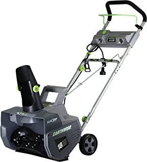 "Earthwise SN72018 Electric Corded 13.5 Amp Snow Thrower, 18"" Width, LED Lights, 700lbs/Minute"