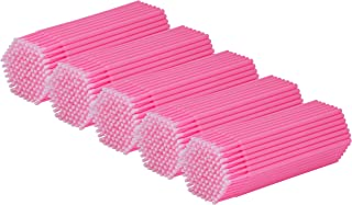Cuttte 500 PCS Disposable Micro Applicators Brushes Latisse applicator for Eyelashes Extensions and Makeup Application (He...