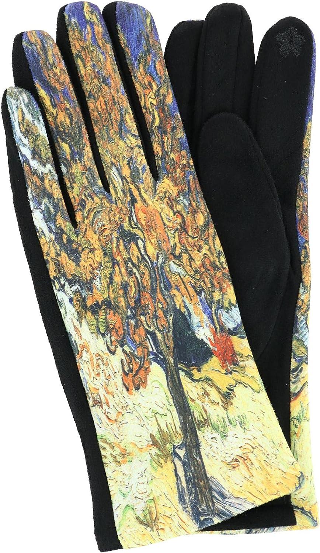 Love of Fashion Women's Van Gogh Mulberry Tree Print Touchscreen Gloves