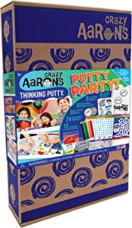 Crazy Aaron's Putty Party Gift Activity Set - 8 Putty Mixing Tins and 12 Concentrates - 68 Piece Putty Birthday Party Set