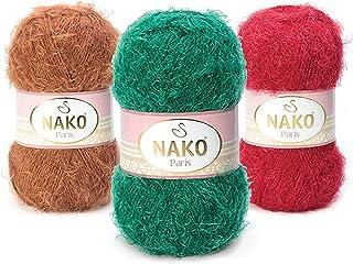 4 Skein(Ball) 40% Premium Acrylic - 60% Polyamide NAKO Paris, Knitting Yarn, Crochet Yarn, Acrylic Yarn, Shawl Yarn, Winter Yarn, hat Yarn, Scarf, Pullover, Cardigan, Beret, Shawl
