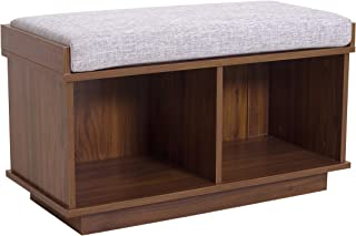 Ravenna Home Reeder Upholstered Entryway Cushioned Storage Bench, 31.5