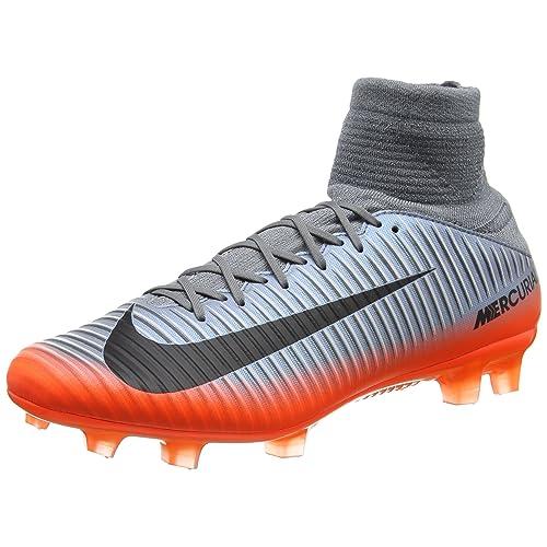 Nike Mercurial Veloce III DF CR7 FG 852518-001 Grey Hematite Men s Soccer  Cleats f07d5e1fbe367