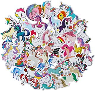 YAMIOW Waterproof Vinyl Stickers for Tablet Water Bottle Skateboard Guitar Laptop Motorcycle Car Luggage Decal Graffiti Stickers (50 pcs for Unicorn Style)