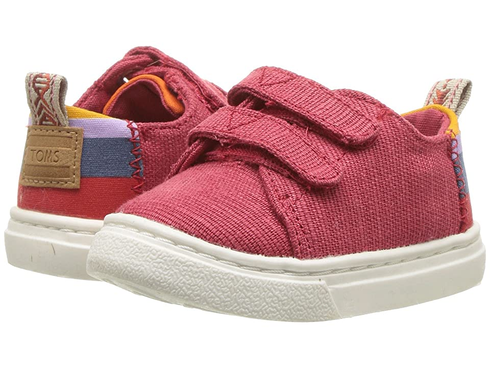 TOMS Kids Lenny (Infant/Toddler/Little Kid) (Apple Red Heritage Canvas) Kid