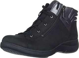 Aravon Women's REV STRIDARC Waterproof Low Boot Ankle, Black, 7.5 D US