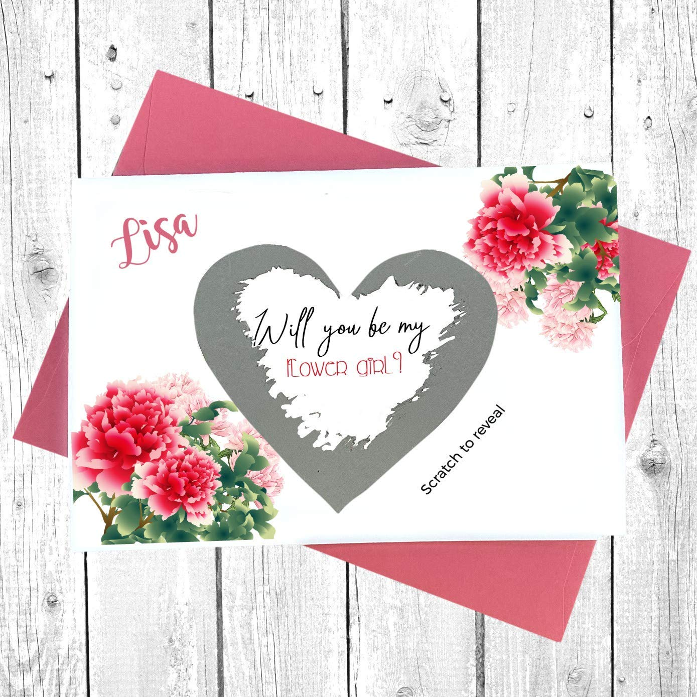 Ranking TOP10 Flower girl proposal gift Card Scratc Direct store