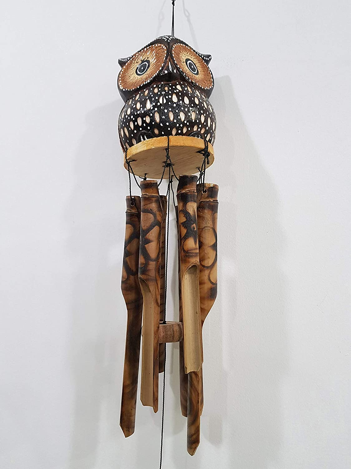 Bongjas At the price Chicago Mall of surprise Dream Owl Bamboo Wind Chime Wood Gifts Memorial C -
