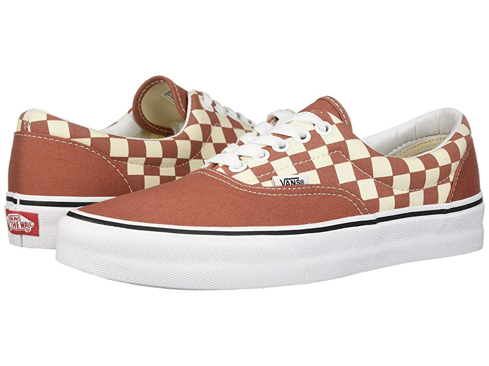 Vans Eratm ((Two-Tone Checker) Auburn/Classic White) Skate Shoes