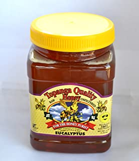 Topanga Quality Honey (Eucalyptus Floral Source) Raw, Unfiltered, Unpasturized, Best Quality, All Natural, Kosher - 3 Pounds Each