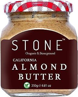 FITJARS Stone Keto Vegan Butters Organic Almond Butter, 250 g (Badam)