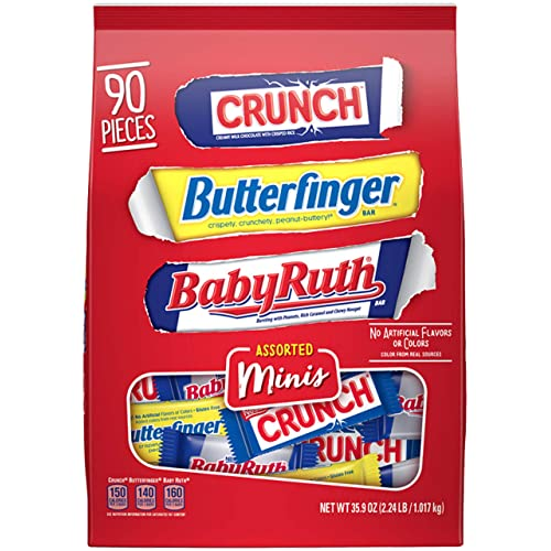 Nestle Assorted Miniatures Nestle, Butterfinger, Nestle Crunch, Baby Ruth