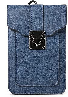 Women's Mini Shoulder Bag Belt Clip Pouch for Apple iPhone X / 8 7 Plus / ZTE Nubia Z17 / Z17 Mini / Blade X Max / Max 3 / A2 Plus / V8 / V8 Pro / Max XL / Axon 7S / Hawkeye/ OnePlus 5 3T (Blue)