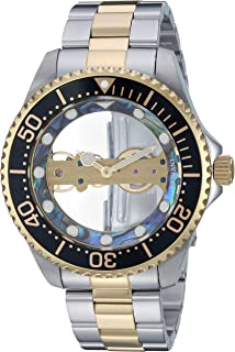 Invicta Men's Pro Diver Mechanical-Hand-Wind Watch with Stainless-Steel Strap, Two Tone, 22 (Model: 26409)