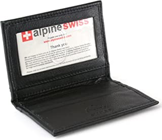 Thin Front Pocket Wallet Business Card Case 2 ID Window 6 Card Slot