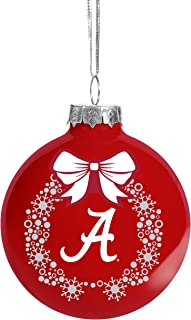FOCO NCAA Wreath Glass Ball Christmas Tree Ornament-2 5/8