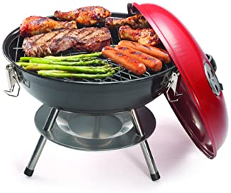 "Cuisinart CCG190RB Portable Charcoal Grill, 14-Inch, Red, 14.5"" x 14.5"" x 15"""