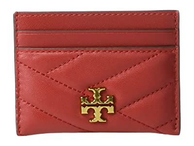 Tory Burch Kira Chevron Card Case (Red Apple) Wallet Handbags