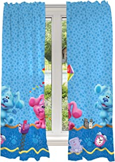 Franco Juego de cortinas para ventana de habitación infantil, 208 x 160 cm, Blues Clues