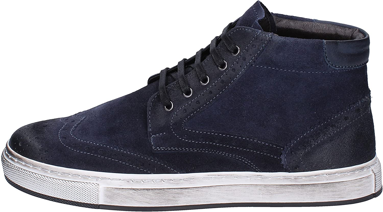 BRUNO VERRI Fashion-Sneakers Mens Suede bluee
