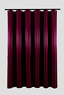 Biscaynebay Fabric Shower Curtains, Water Repellent Damsk Stripes Bathroom Curtains, Burgundy 72 by 72 Inches