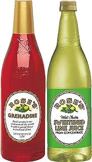 Rose's Grenadine, Sweetened Lime Juice, Variety Pack, one liter