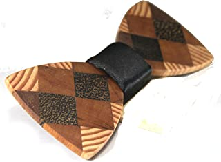 Solid Multi Exotic Woods Bow Tie