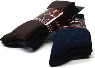 Fontana Calze, 12 paia di calze lunghe in caldo cotone elasticizzate confortevoli e rinforzate su punta e tallone. Prodott...