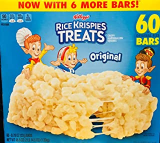 - Rice Krispies Treats, Original Marshmallow, 0.78oz Pack, 60 per Carton
