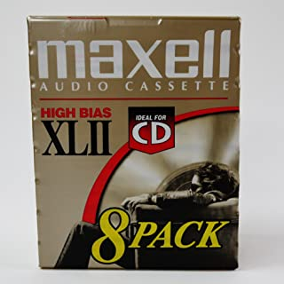MAXELL XLII Audio Cassettes - 8 Pack -90 Minute- High Bias