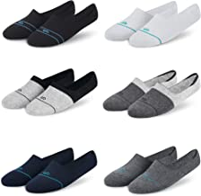 Dynamocks Men and Women Combed Cotton Loafer Socks with Anti-Slip Silicon (Combo Pack of 6 Pairs; Black; White; Navy Blue;...