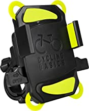 Cycling Basics Bike Phone Mount - Bicycle Phone Holder - Securely Straps Mobile Phone and Limits Vibration Shocks - Rotatable Holding Base for Ease of View mounting