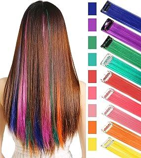Rhyme Extensiones de Cabello Arco Iris Clip de Extensiones de Cabello de Color para niñas Muñecas Accesorios para el Cabel...