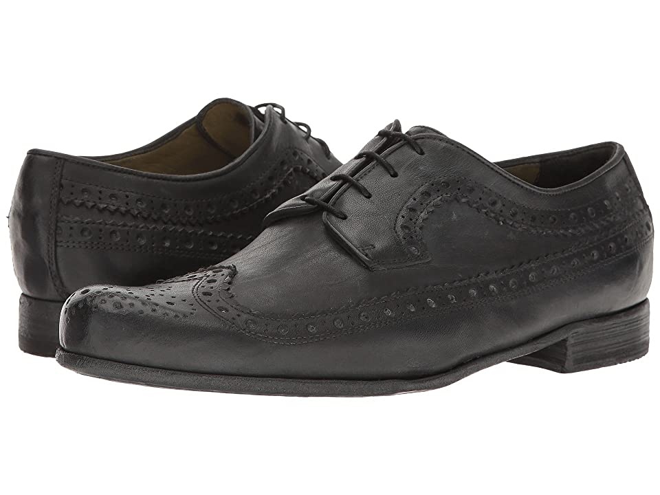 Image of Billy Reid Buzz Wingtip Oxford (Charcoal) Men's Shoes
