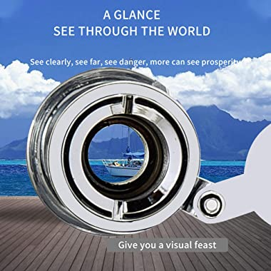 """Safety Door Viewer Peephole Eyes – Door Eyehole 220 Degrees Wide HD Field of View, Mounting Hole Diameter 0.55"""", for 1.34&#34"""