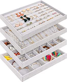 CUFFLINKS 6-COLORS CALLISTA JEWELRY TRAY GREAT FOR DISPLAYING RINGS EARRING