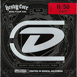 Dunlop DHCN1150 Heavy Core Nickel Wound Guitar Strings, Heavier, .011–.050, 6 Strings/Set