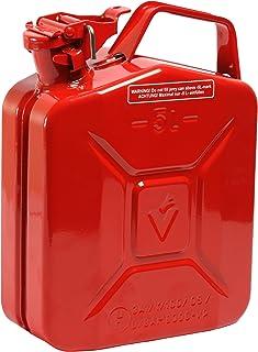HP Autozubehör 10195 5L Stahlblech Kraftstoff Kanister Rot RAL300