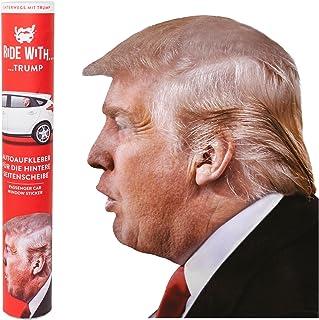 Ride With   'Donald Trump' Fenstersticker 30,5 x 30 x 0,1 cm   eine thumbs UP! BRAND   1001730