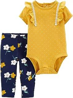 Carter's Baby Girls' 2-Piece Polka Dot Bodysuit Pant Set Floral